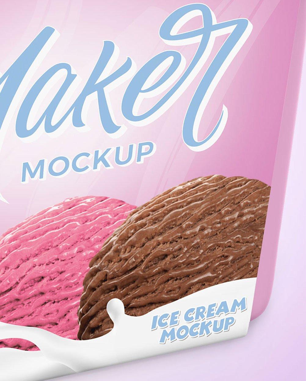 pote de sorvete mockup